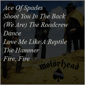 Ace Of Spades - Songs